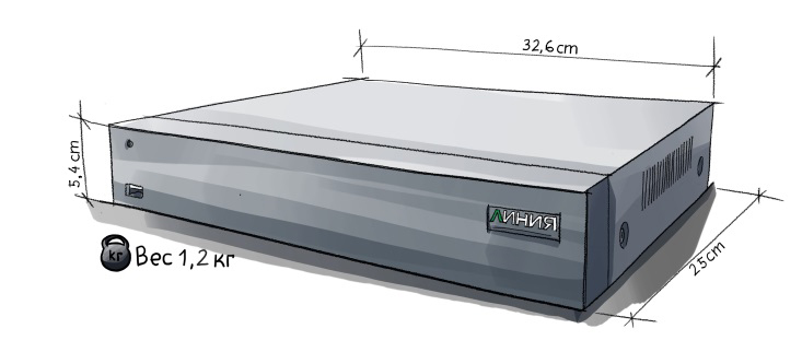 «Линия XVR 8 H.265»